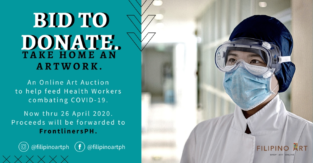 Feed Our Health Workers by Bidding; Take Home an Artwork