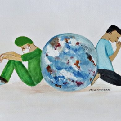 Cebu-based Artist Takes Inspiration from the Virus Pandemic